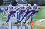 De Goudse met schaatsteam in Marathon Cup