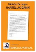 Hypotheekshop dankt minister in krantenadvertentie