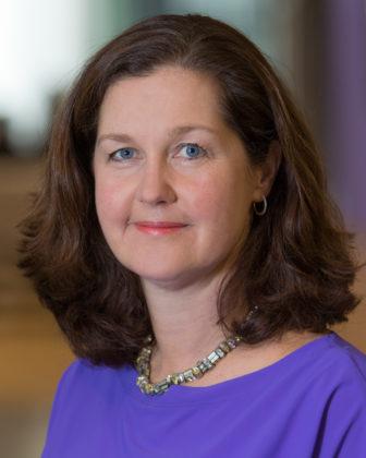 Petra Jansen op de Haar directeur ASR Bank
