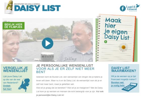 Daisy List voor nabestaanden