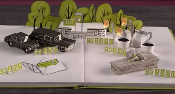 Advies over kosten van een uitvaart: animatie